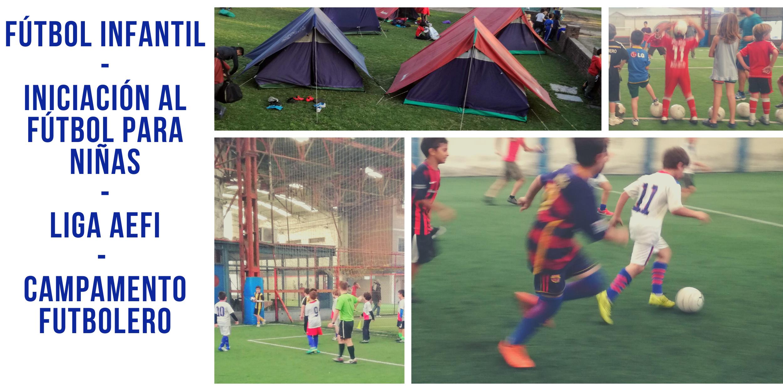 Fútbol Infantil Iniciación al futbol para niñas Liga AEFI Campamento Futbolero